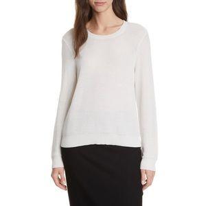 Eileen Fisher Tencel Lyocell Blend Sweater in Bone